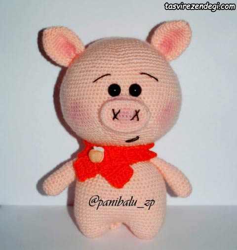آموزش بافت عروسک خوک کوچولو