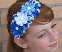 مدل تل سر آبی و سفید