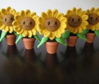 آموزش بافت گل آفتابگردان خندان