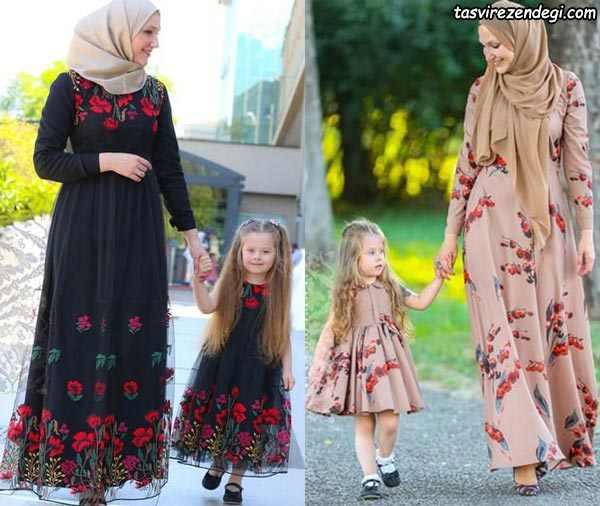 لباس ست مادر دختر مجلس مختلط