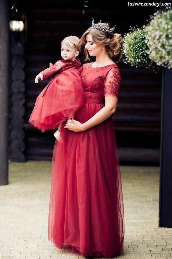 لباس مجلسی ست مادر و دختر