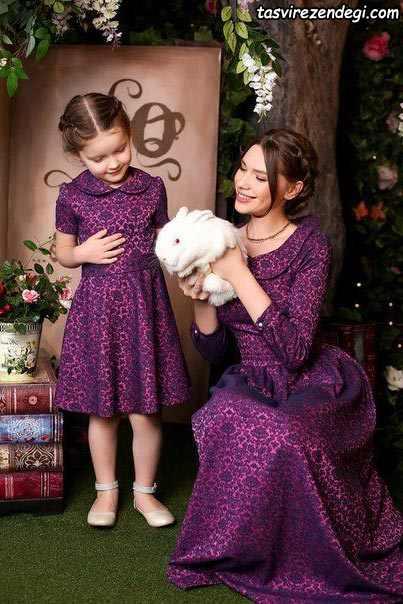 لباس گیپور ست مادر دختر مجلس مختلط