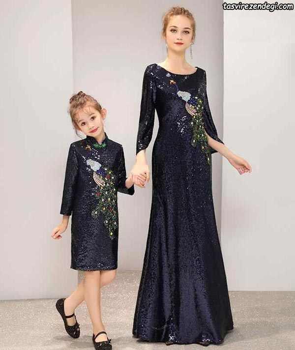 لباس پرنسسی ست مادر دختر مجلس مختلط
