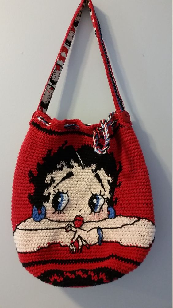 مدل کیف دخترانه بافتنی با قلاب