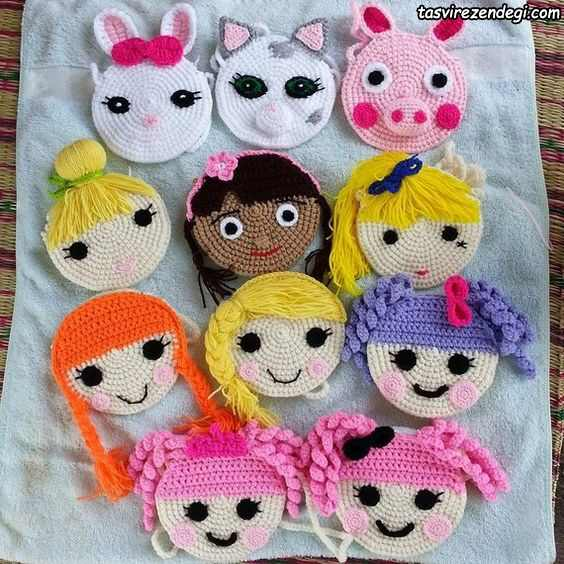مدل کیف دخترانه بافتنی عروسکی