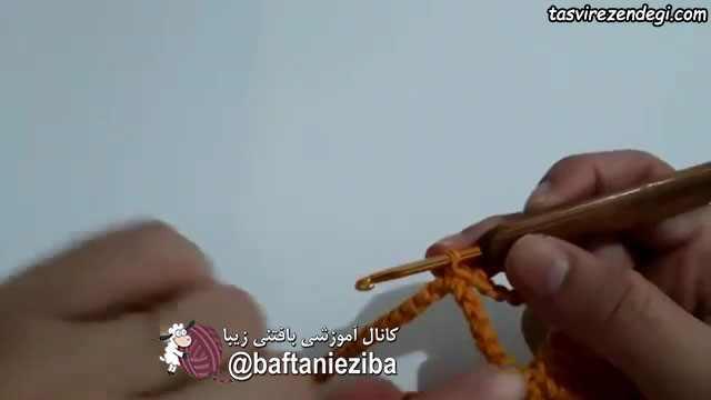 آموزش بافت فرشینه گل قلاب بافی