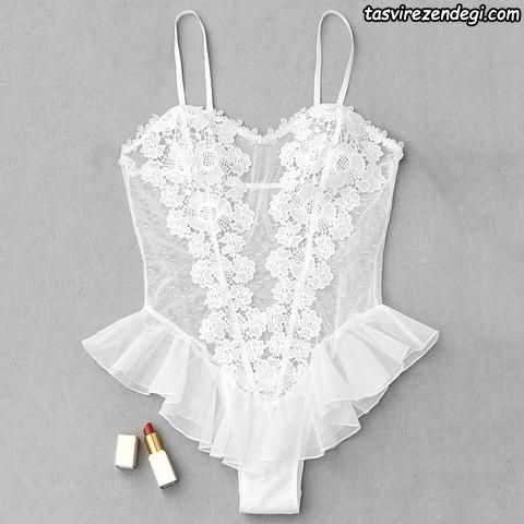 مدل لباس زیر زنانه سفید عروس