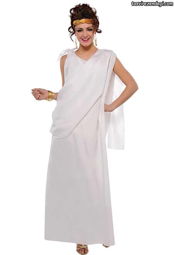 لباس مجلسی رومی یونانی سفید