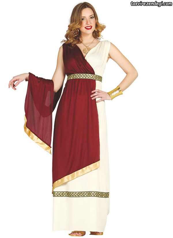 لباس مجلسی رومی یونانی والان دار