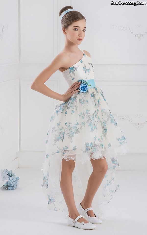 مدل لباس مجلسی دنباله دار دختر بچه