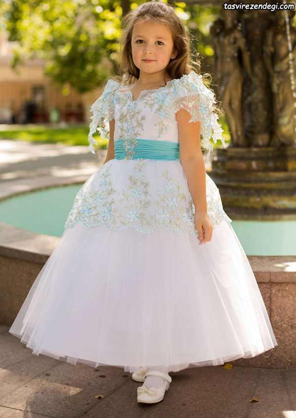 لباس مجلسی دخترانه سفید عروس