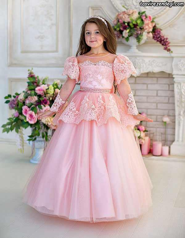 لباس پرنسسی دامن پفی دخترانه