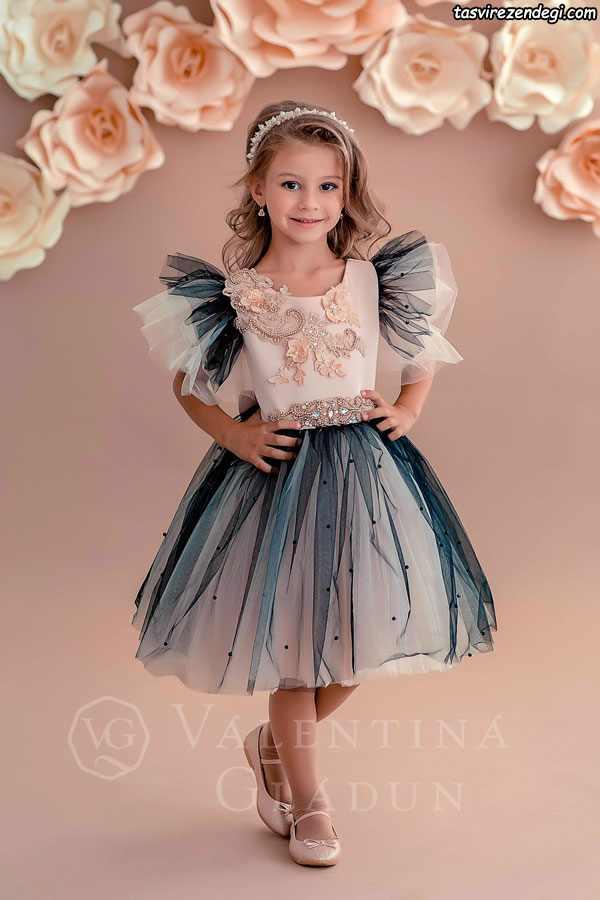 مدل لباس مجلسی حریر دختر بچه