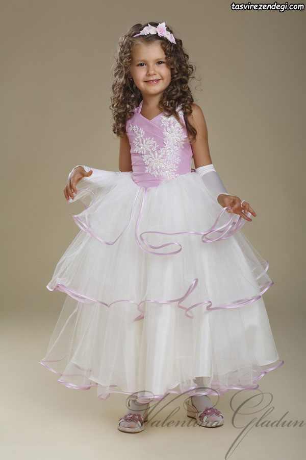 مدل لباس سه دامنه مجلسی دختر بچه