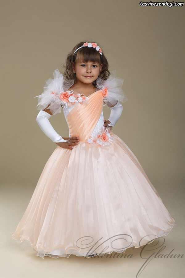 مدل لباس مجلسی پرنسسی دختر بچه