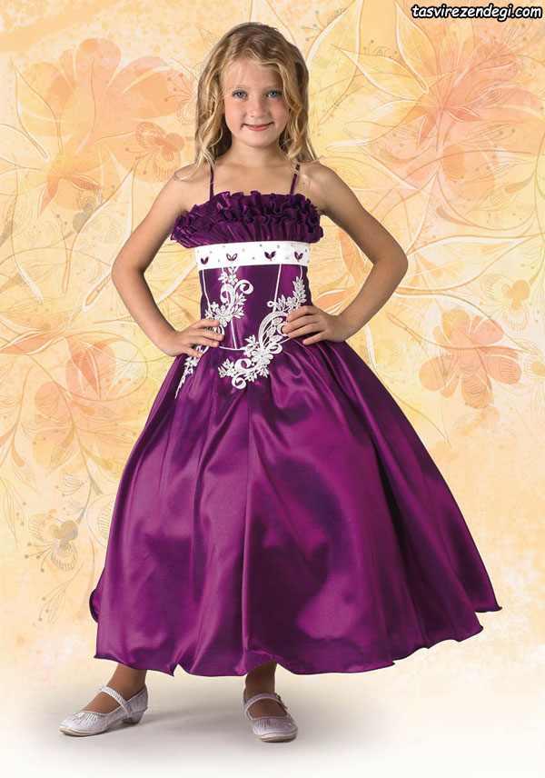 مدل لباس مجلسی دوبنده دختر بچه