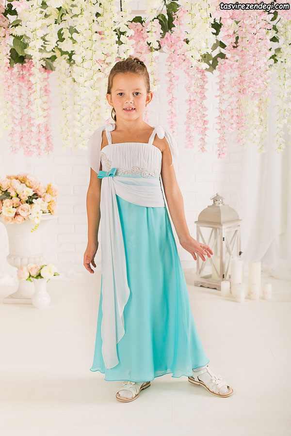 مدل لباس مجلسی دو بنده دختر بچه