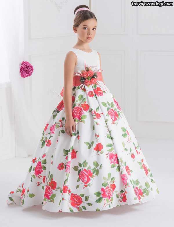مدل لباس مجلسی دامن پفی دختر بچه