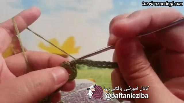 آموزش بافت پابند حلقه ای قلاب بافی