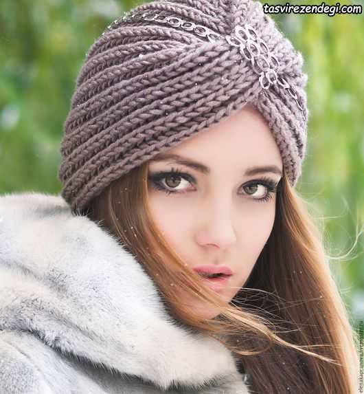 مدل توربان بافتنی زمستانی