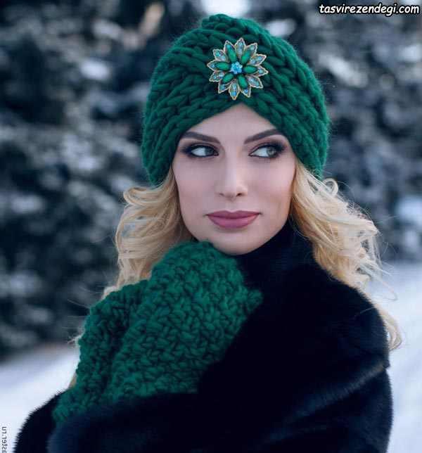 مدل توربان مجلسی زمستانی بافتنی