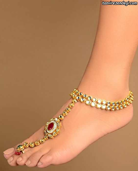مدل پابند خلخال انگشتی طلا