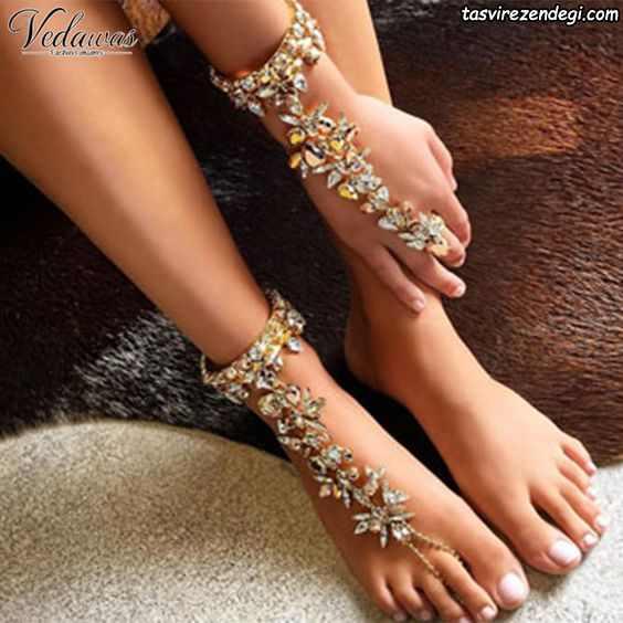 مدل پابند خلخال ست دستبند انگشتری