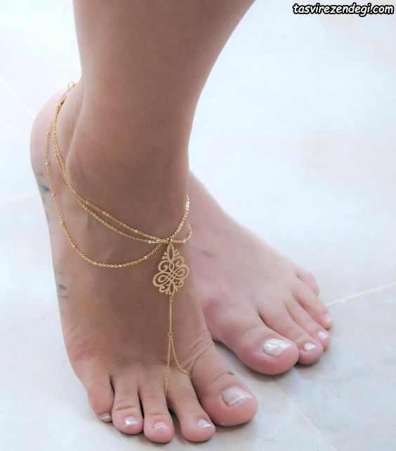 مدل پابند خلخال زنجیر طلا