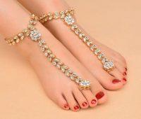 مدل پابند انگشتی خلخال طلایی