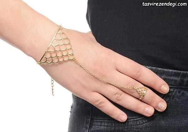 مدل دستبند انگشتری تمیمه ظریف