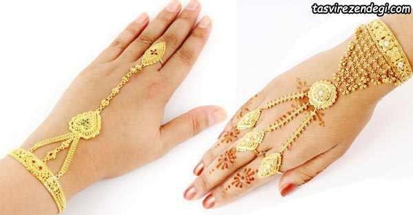 مدل دستبند انگشتری تمیمه هندی