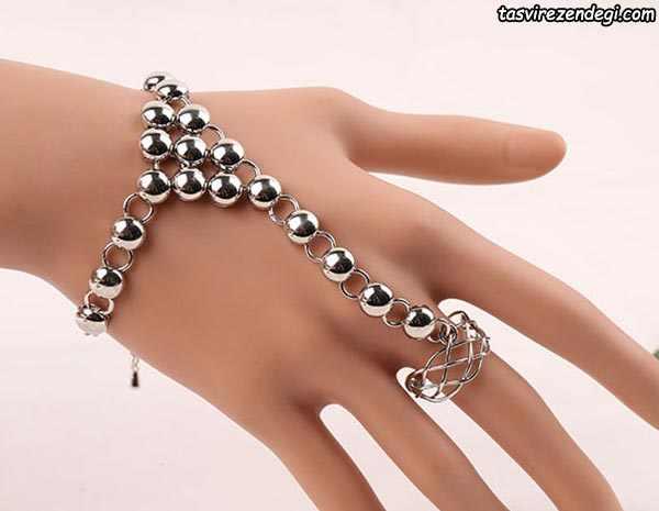 مدل دستبند انگشتری تمیمه مهره استیلی