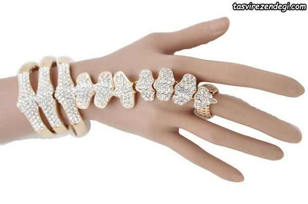 مدل دستبند انگشتری تمیمه استخوان مهره