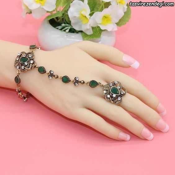 مدل دستبند انگشتری تمیمه