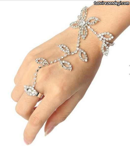 مدل دستبند انگشتری تمیمه شاخه برگ