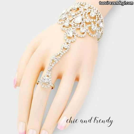 مدل دستبند انگشتری تمیمه عروس