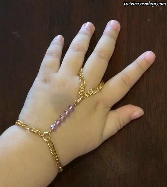 مدل دستبند انگشتری تمیمه بچگانه