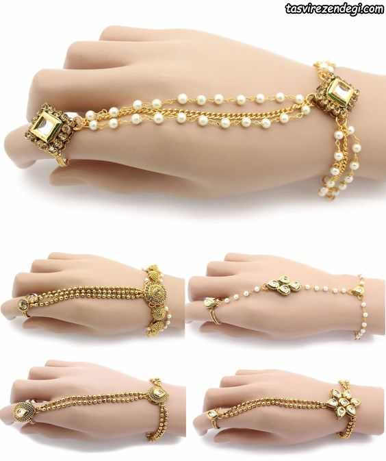 مدل دستبند انگشتری تمیمه طلایی