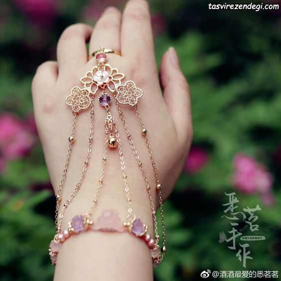 مدل دستبند انگشتری تمیمه دخترانه