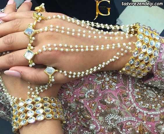 مدل دستبند انگشتری تمیمه عربی
