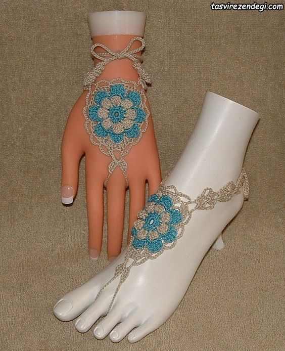 مدل ست دستبند انگشتری و پابند