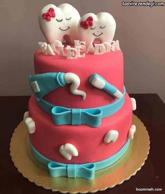 مدل تزیین کیک جشن دندونی