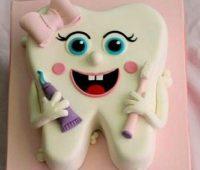 ۴۵ مدل کیک جشن دندونی دخترانه پسرانه (ایده تزیین کیک دندانی و کوکی )