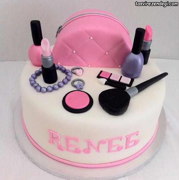 کیک روز دختر لوازم آرایش