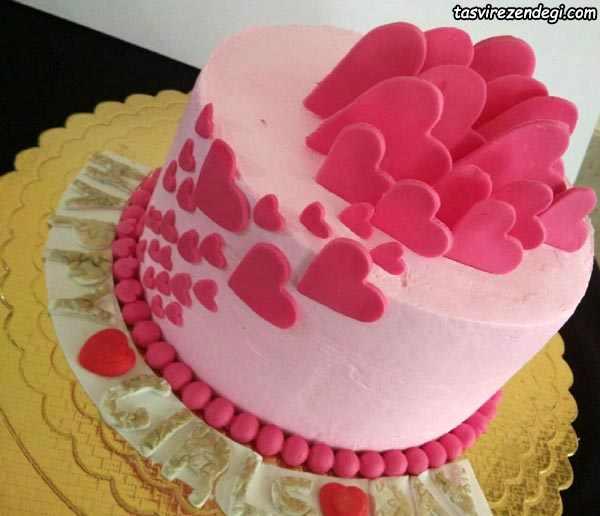 کیک روز دختر عاشقانه