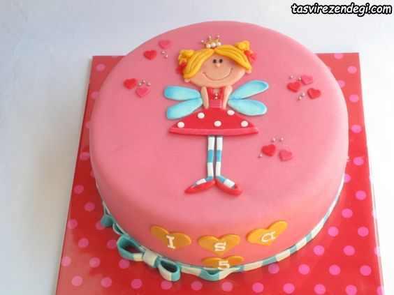 کیک روز دختر بچه گانه