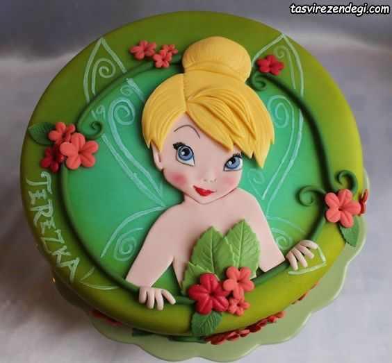 کیک روز دختر عروسکی شخصیت کارتونی