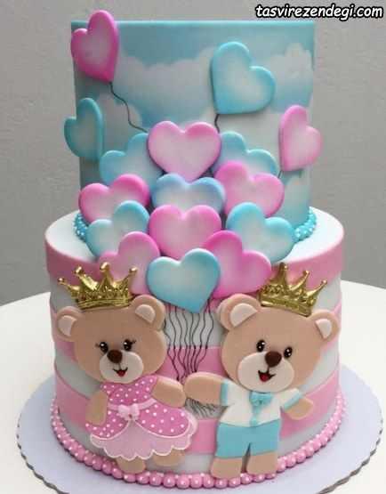 کیک روز دختر بچگانه