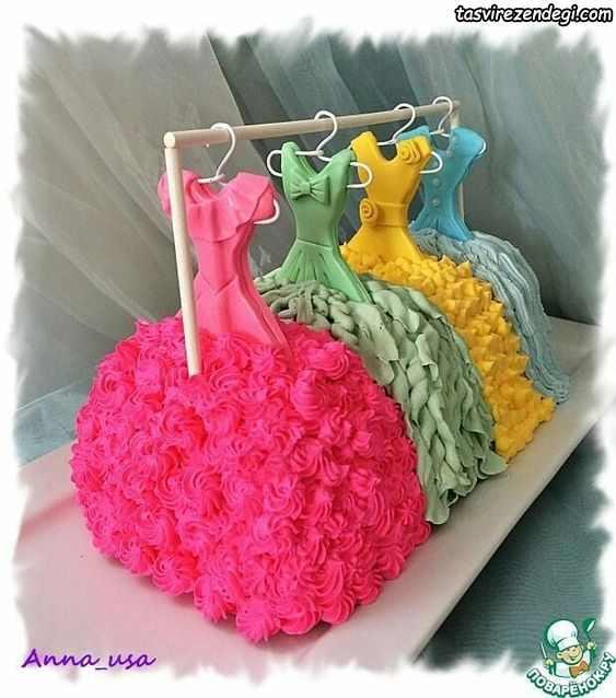 کیک روز دختر لباس پرنسسی