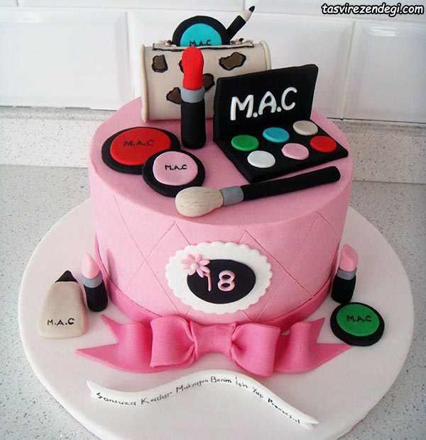 کیک روز دختر لوارم آرایش